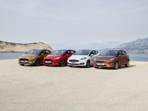 Pneus et dimensions pour les modèles de Ford Fiesta